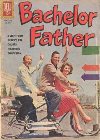 Four Color 1332 - Dell - Bachelor Father - 15 Cents - Arrows - Bike