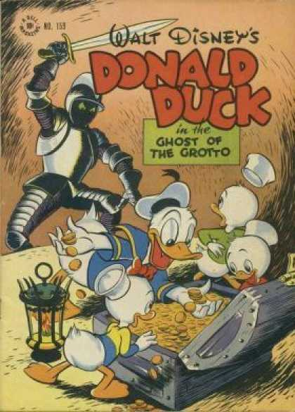 Four Color 159 - Walt Disney Comics - Donald Duck - Ghost Of The Grotto - 159 - Knight