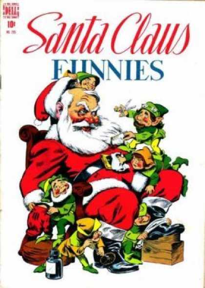 Four Color 205 - Santa And The Green Dwarfs - Run Santa Run - Poor Old Santa - Santa And The 6 Dwarfs - Santa Claus And Hardworking Dwarfs