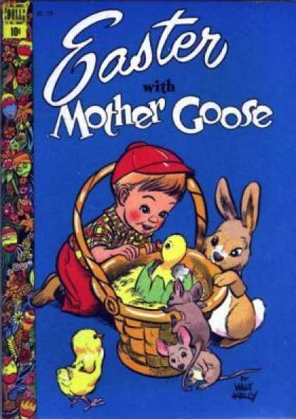 Four Color 220 - Easter - Mother Goose - Easter With Mother Goose - Dell - Bunny114860
