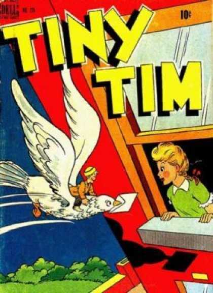 Four Color 235 - Tiny Tim - Window - Bird - Girl - Letter