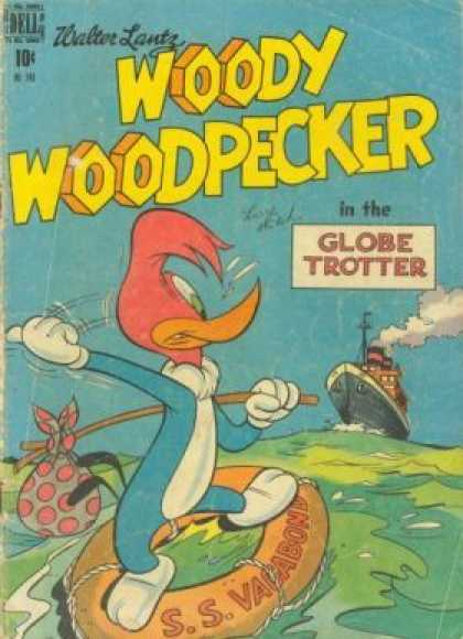 Four Color 249 - Walter Lantz - Woody Woodpecker - Globe Trotter - Adveture On Sea - Hitchhike On Ship