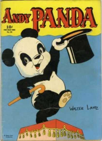 Four Color 25 - Andy Panda - Top Hat - Walter Lantz - Cane - Stage