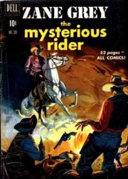 Four Color 301 - Zane Grey And The Mysterious Rider - 52 Pages - White Horse - Fire - Pistol