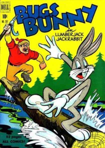 Four Color 307 - Lumberjack - Jackrabbit - Chase - Log - Water