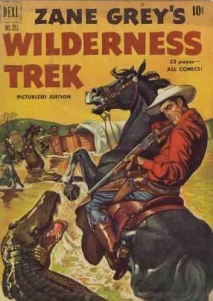 Four Color 333 - Dell - Zane Grey - Wilderness Trek - Horse - Cowboy
