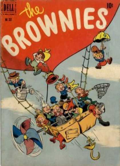 Four Color 337 - The Brownies - Net - Umbrella - Dell - 10 Cents