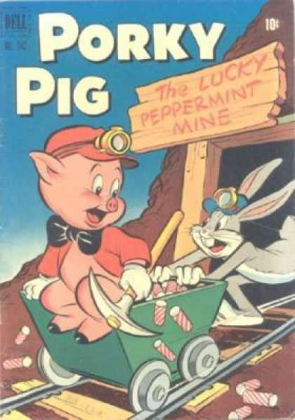 Four Color 342 - Peppermint - Bugs Bunny - Porky Pig - Mining - Pickaxe