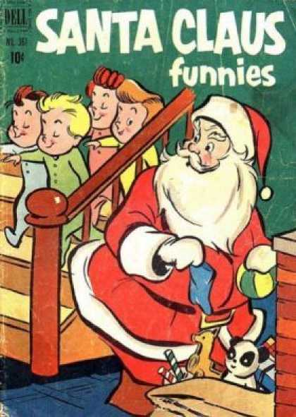 Four Color 361 - Santa Comics - Christmas Comics - Christmas Jokes - Festive Funnies - Comic Claus