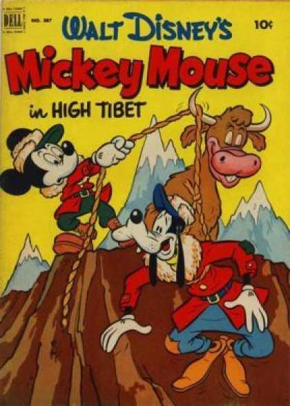 Four Color 387 - Micky Intrubal - High Tibat - Stupidety Of Goofy - Micky On Mountaverest - Micky Lover