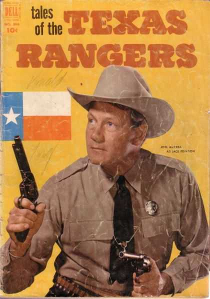 Four Color 396 - Texas Flag - Tales Of The Texas Rangers - Dell - Gun - Cowboy Hat