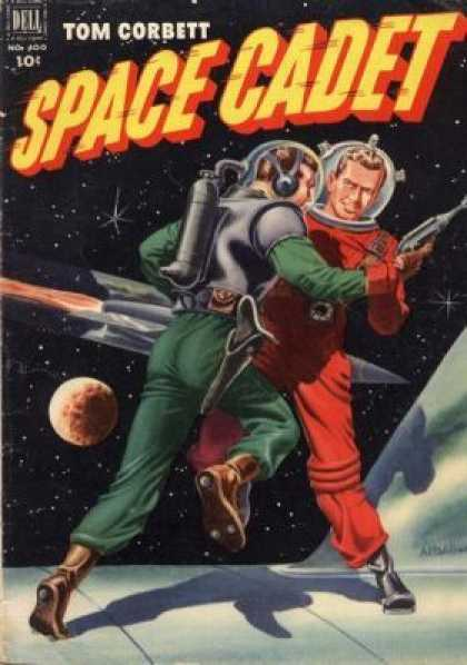 Four Color 400 - Space - Astronauts - Fighting - Spaceship - Ray Gun