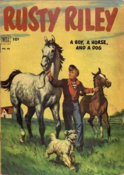 Four Color 418 - Rusty Riley - Horse - Pony - Dog - Boy