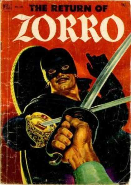 Four Color 425 - Sword - Masked Man - Zorro - Black Gloves - Mustache