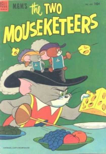 Four Color 475 - The Two Mouseketeers - Cheese - Swords - Fruit - Dinner Table