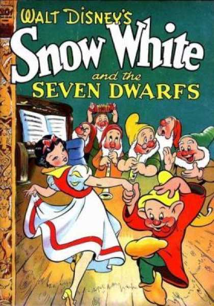 Four Color 49 - Walt Disneys - Snow White - Gnome - Woman - Wooden Floor