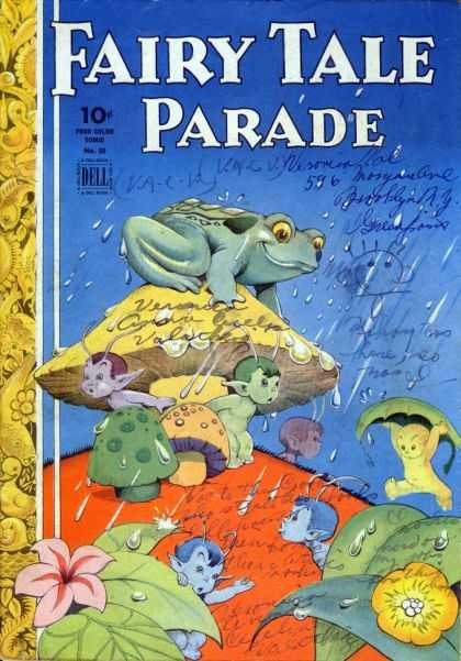 Four Color 50 - Fairy Tale Parade - Frog - Rain - Elves - Flowers