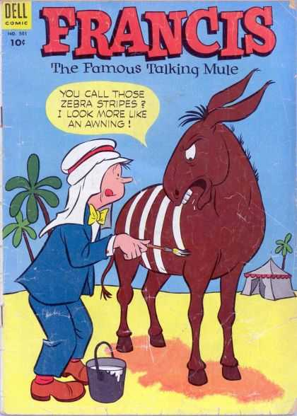 Four Color 501 - Dell - Francis - The Famous Talking Mule - Zebra Stripes - Paint