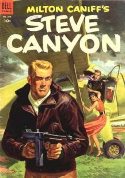 Four Color 519 - Dell - 10 Cents - Blonde - Man - Steve Canyon
