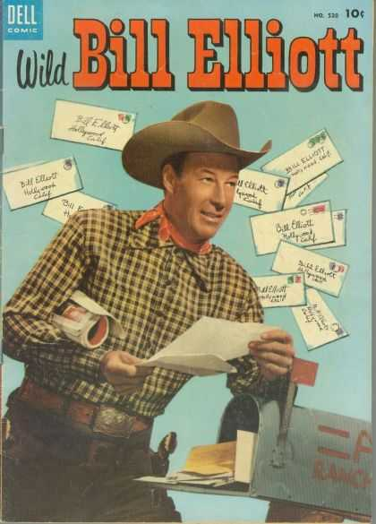 Four Color 520 - Dell - Dell Comic - Wild Bill Elliot - Bill Elliot - Letters