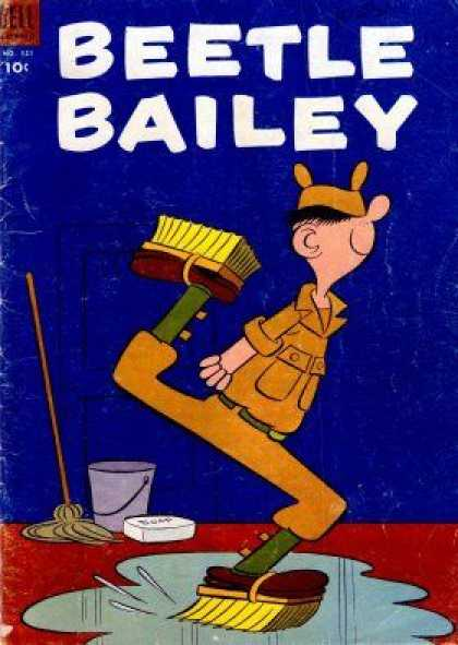 Four Color 521 - Beetle Bailey - Swap The Deck - Clean Sweep - Army - Military