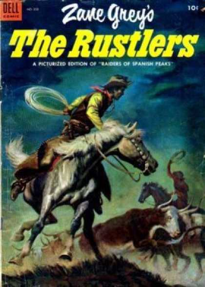 Four Color 532 - Raiders Of Spanish Peaks - Horse - The Rustlers - Running Bulls - Spanish Cowboys
