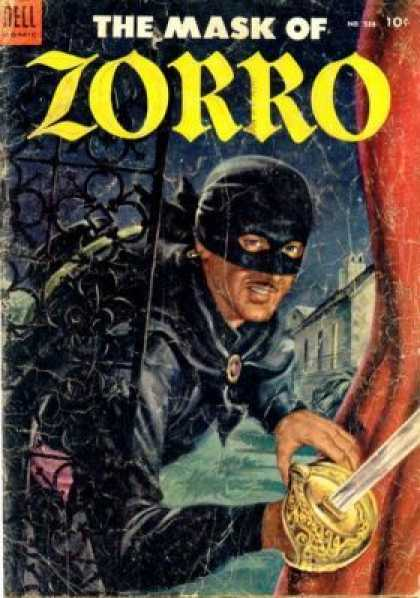 Four Color 538 - Zorro - Black Mask - Cape - Sword - Castle