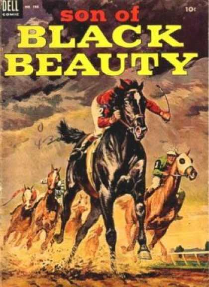 Four Color 566 - Black - Beauty - Horse - Racing - Dell Comic