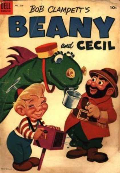 Four Color 570 - Bob Clampett - Beany And Cecil - Music Box - Propeller Beanie - Tin Cup