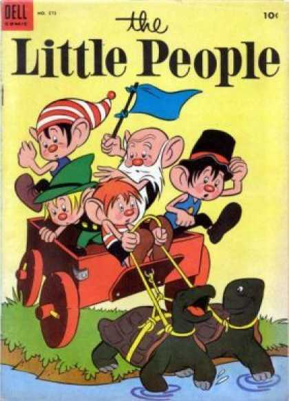 Four Color 573 - Dell - The Little People - Turtle - Flag - Wagon
