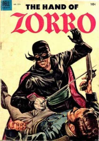 Four Color 574 - The Hand Of Zorro - Sword - Gun - Mask - Green Belt