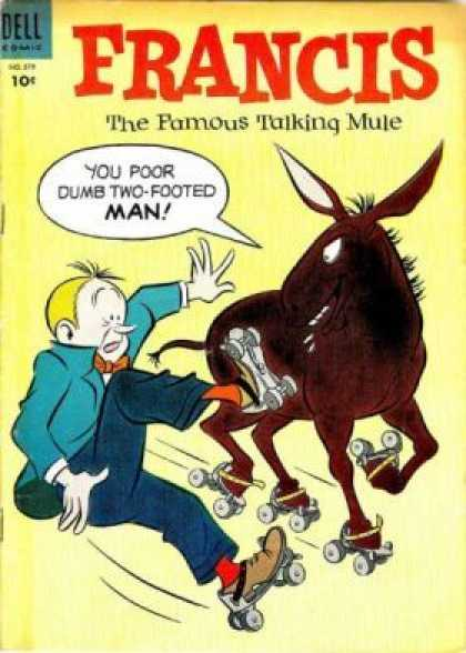 Four Color 579 - Dell - Francis - Donkey - Man - The Famous Talking Mule