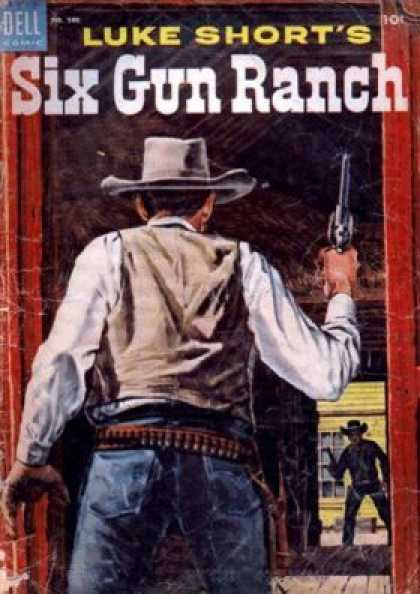 Four Color 580 - Cowboys - Fight - Guns - Doors - Caps