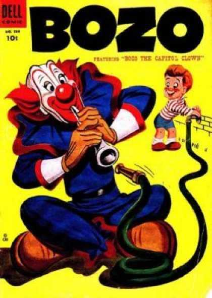 Four Color 594 - Bozo - Dozo The Capitol Clown - Dell Comic - 10c - Clown