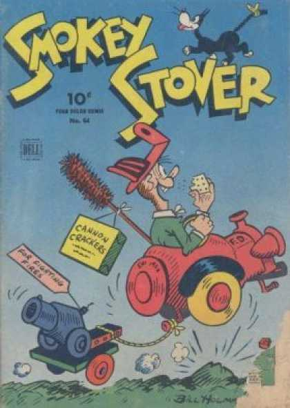 Four Color 64 - Smokey Stover - 10 Cents - Cat - Crackers - Cannon