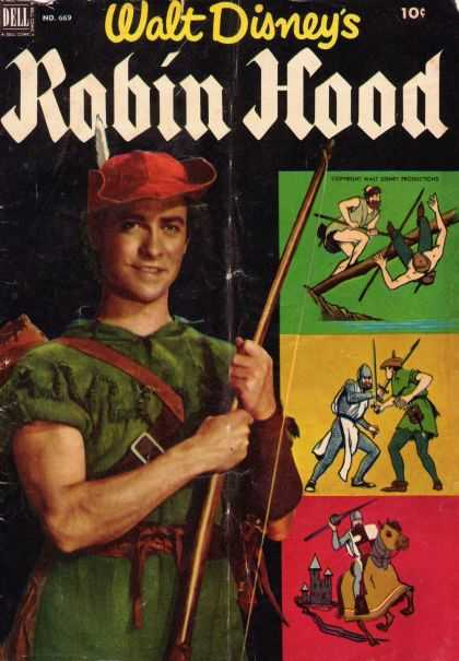 Four Color 669 - Errol Flynn - Robin Hood - Action Adventure - Knights - Classic