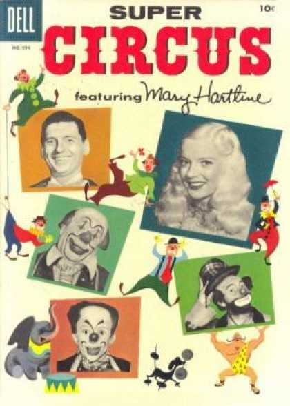 Four Color 694 - Dell - Super Circus - Mary Hartline - Faces - Clowns