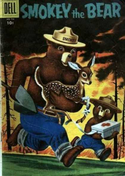 Four Color 708 - Prevent Forest Fires - Brave Forest Team Adventures - Smokey And Friends Fight Fires - Forest Fire Rescue - Smokey Saves The Day