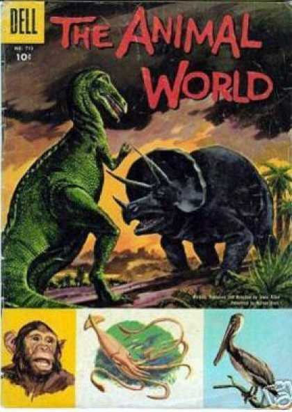 Four Color 713 - Dinosaurs - T-rex - Animal Fight - Prehistoric - Animal World