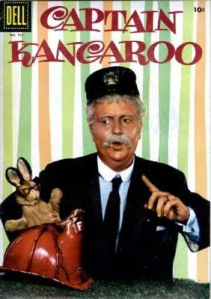 Four Color 721 - Captain Kangaroo - Dell Comics - Tv Tie-ins - Funny Animals - Boxing