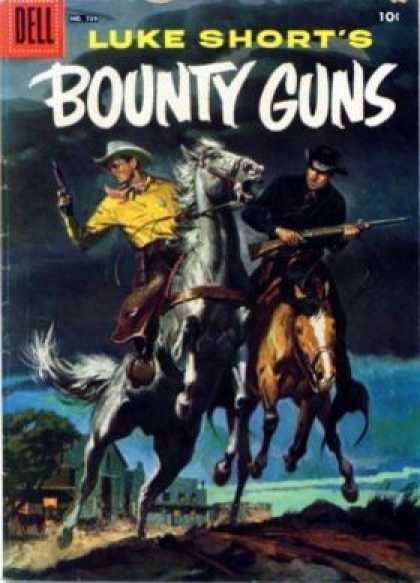 Four Color 739 - Dell - Luke Shorts - Bounty Guns - Horse - Man