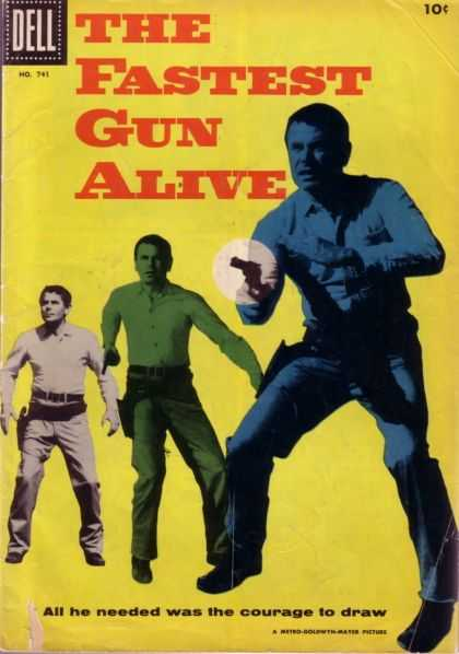Four Color 741 - Fastest Gun Alive - Western - Gunfighter - Dell No 341 - All He Needed Was The Courage To Draw
