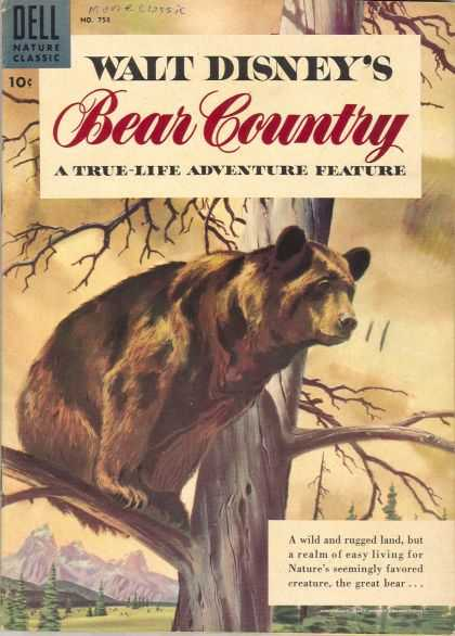 Four Color 758 - Walt Disneys Feature - True-life Adventure - The Great Bear - Natures Favored Creature - Classic Animal Graphic Novel