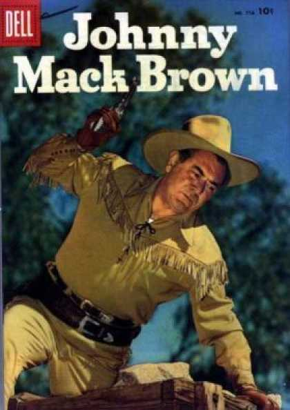Four Color 776 - Johnny Mack Brown - Dell - Cowboy - Tassels - Gun