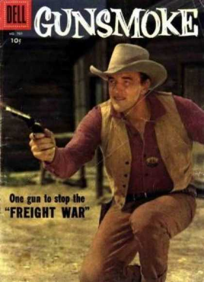 Four Color 797 - Gunsmoke - The Cowboy - Shoot Em Up - Waiting For The Bad Guy To Arrive - Gunfighter