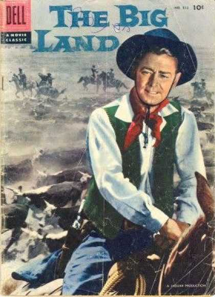 Four Color 812 - Cowboy - Horses - Bandanna - Cattle - The Big Land