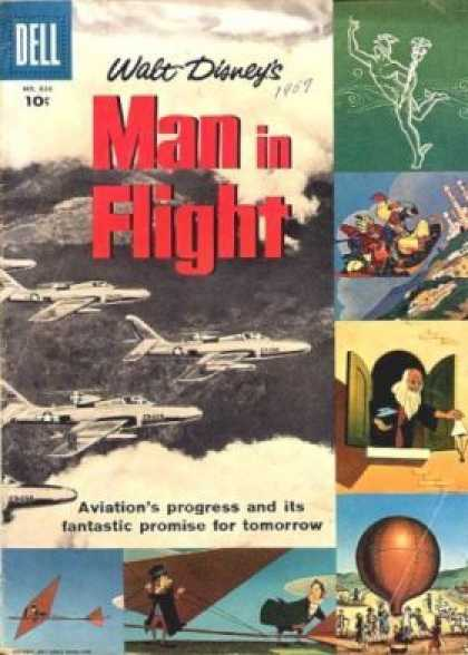Four Color 836 - Walt Disney - Airplane - Aviations Progress - Fliing Machines - Deltaplane
