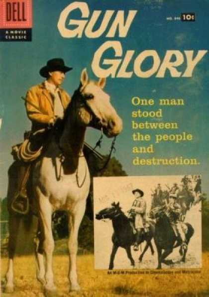 Four Color 846 - One Man Stood Between The People And Destruction - Horse - Cowboy - Saddle - Western