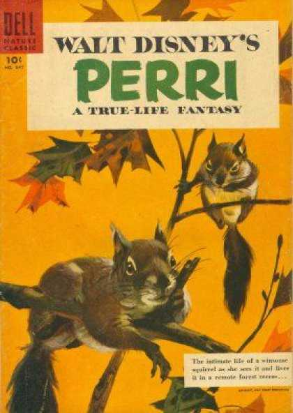 Four Color 847 - Walt Disney - Perri - Squirels - True Life - Dell Nature Classic