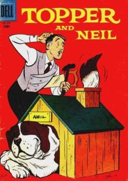 Four Color 859 - Dell - Topper And Neil - Mustache - Dog - Doghouse